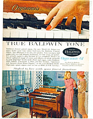True Baldwin piano tone ad - April 1960 (Image1)