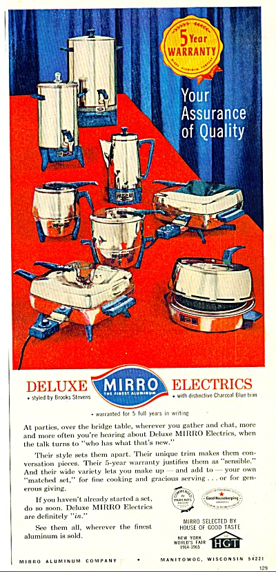 Deluxe Mirro Electrics Ad - Sept. 1964