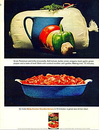 Betty Crocker noodles Italiano ad - Septe. 64 (Image1)