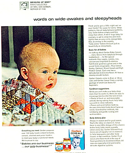 Gerber Cereals for baby ad - Sept. 1964 (Image1)