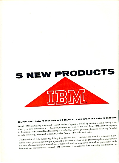 1959 Ibm Products Ad Early Computers
