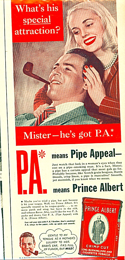 Prince Albert tobacco ad (Image1)