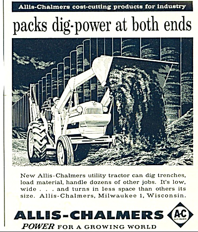 1959 Allis Chalmers Utility Tractor Ad