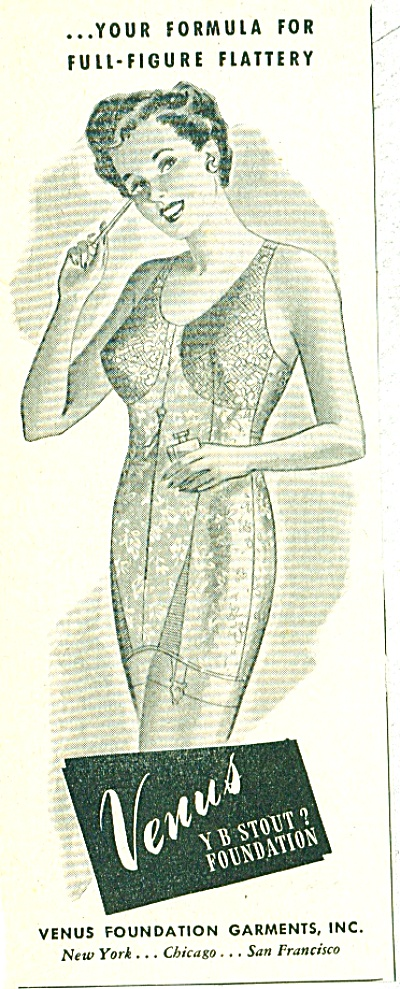 1944 Venus Y B stout? Girdle Foundation AD (Image1)