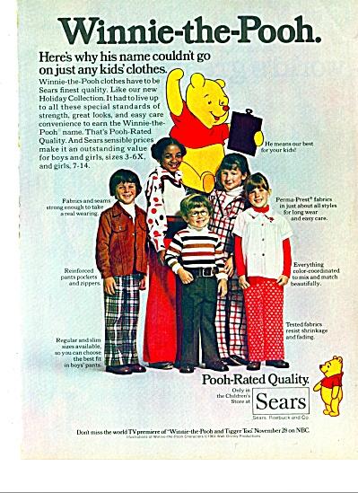 1975 Sears Clothing AD KIDS Winnie the Pooh (Image1)