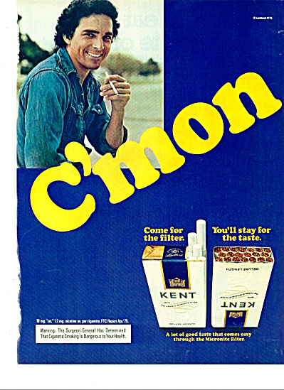 1975 KENT Cigarettes AD C'MON Cool Man (Image1)
