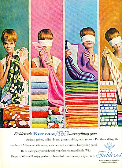1964 Fieldcrest TOWEL AD Forecast/66 LADY BLI (Image1)