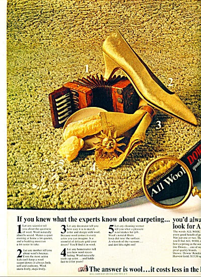Downs quality carpets ad - Nov. 1964 (Image1)