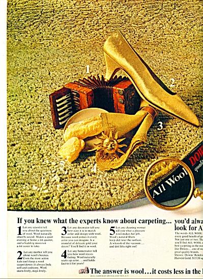 Downs quality carpets ad - Nov. 1964 (Image1)