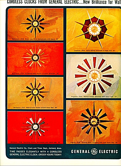 1964 GE General Electric RETRO CLOCKS AD (Image1)