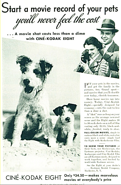 1938 Cine Kodak Eight  Movie Camera AD (Image1)