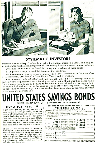 1938 United States Savings Bond AD Investors (Image1)