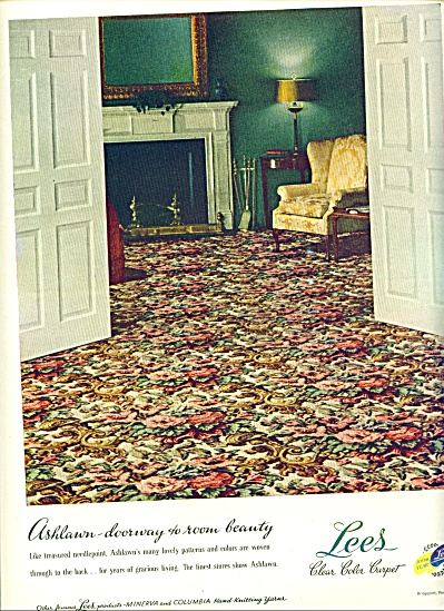1947 LEES Carpet AD Ashlawn Needlepoint Desig (Image1)