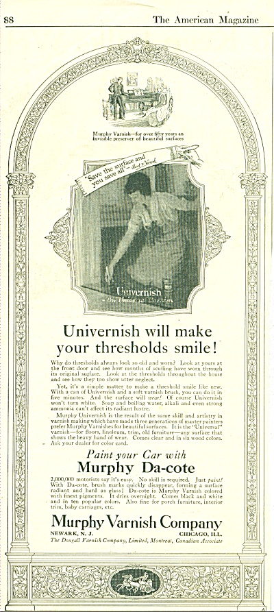 1922 Murphy Varnish Company  Ad Cool Art (Image1)
