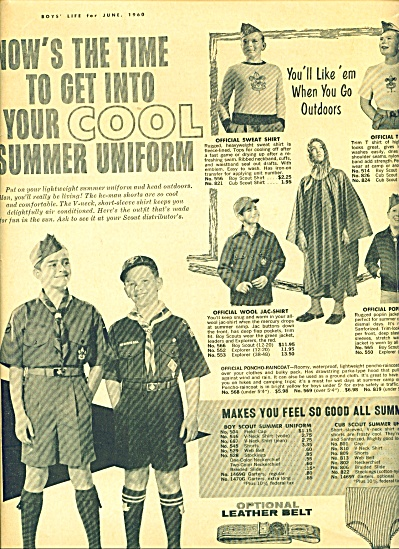 1960 BOY SCOUT Uniforms AD Vntage Fashions BS (Image1)