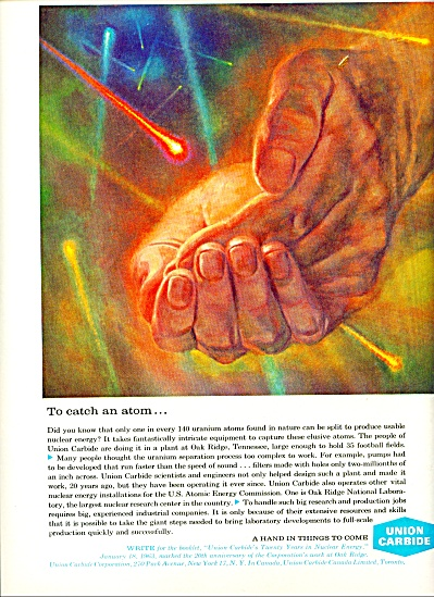 Union Carbide Company ad - March 1963 (Image1)