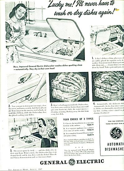 1947 General Electric DISHWASHER AD (Image1)