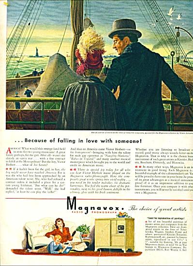 1945 MAGNAVOX RADIO PHONO AD Walter RICHARDS (Image1)