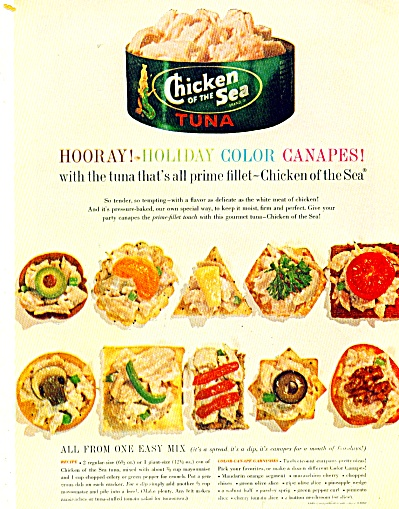 1964 Chicken Sea Tuna AD Recipe Appetizers (Image1)