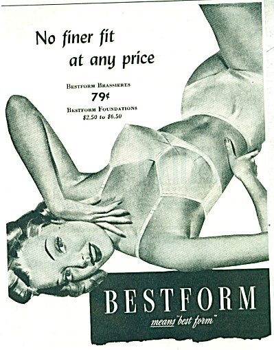 1940's Best form BRA PIN UP ART ad - (Image1)