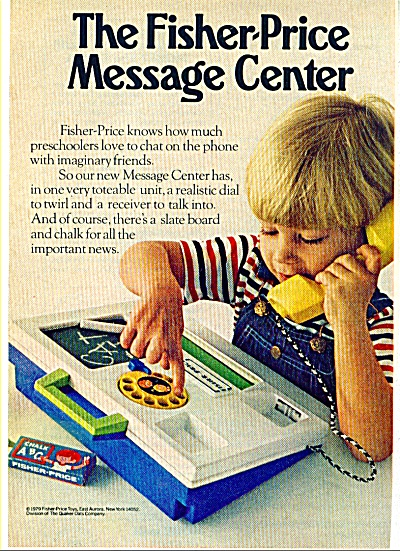 1979 The Fisher Price Message Center Ad