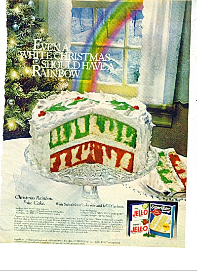 1979 Betty Crocker Christmas Cake RECIPE AD (Image1)