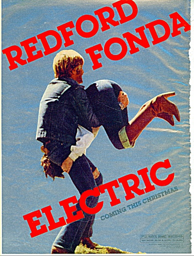 1979 MOVIE AD Electric Robert REDFORD Fonda (Image1)