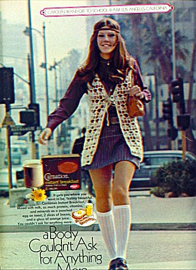 Carnation Breakfast ad MODEL CAROLYN BRAND (Image1)