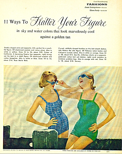 1937 Good Housekeeping SWIMSUIT Fashion PAGES (Image1)