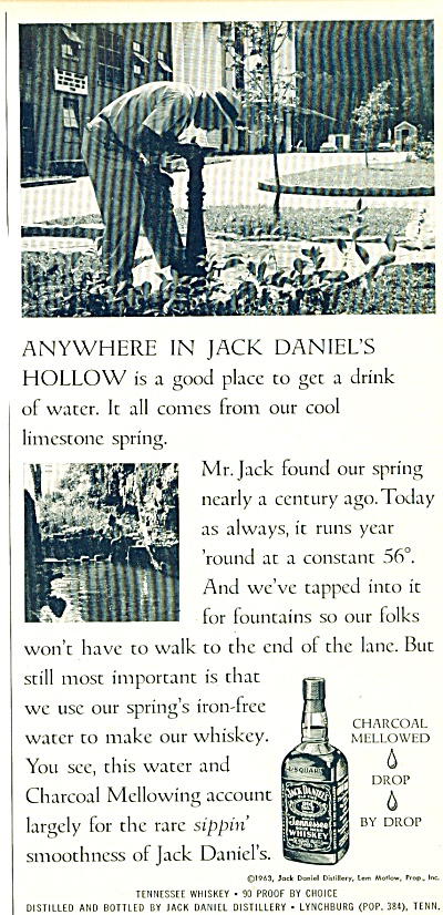 1963 Jack Daniels Whiskey Ad Hollow Pic