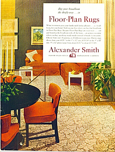 1951Alexander Smith Rug AD ORNAGE Home Design (Image1)