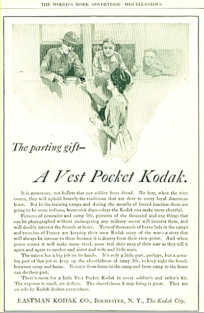 1910 s KODAK WWII SOLDIERS Going to WAR AD (Image1)
