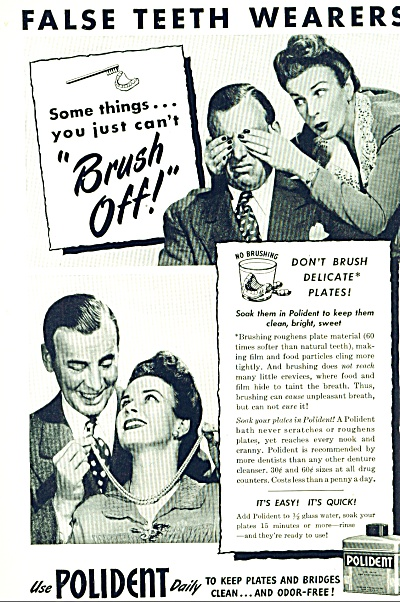 1946 Polident Dental Ad