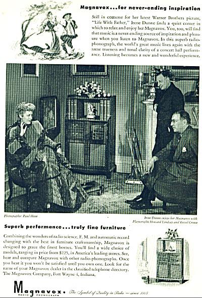 1946 Magnavox RADIO Phonograph AD IRENE DUNNE (Image1)