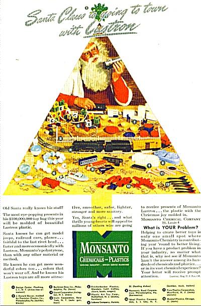 1946 Monsanto LUSTRON Plastics TOYS AD (Image1)