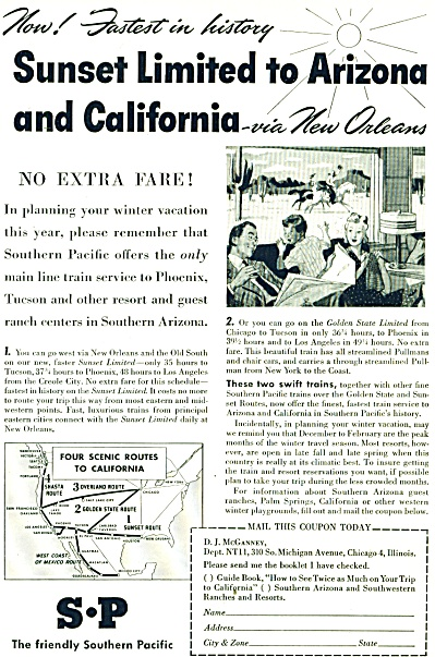 S-P the friendly SouthernPacific ad -Nov. 194 (Image1)