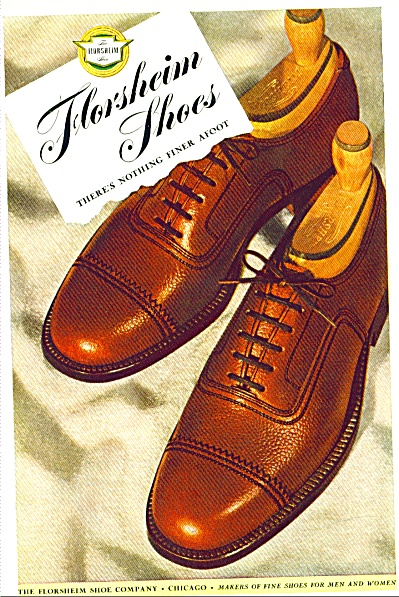 1946 FLORSHEIM SHOE AD Vintage Men's SHOES (Image1)