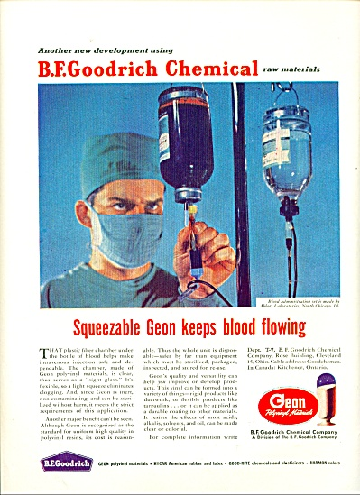 1956 B. F. Goodrich Chemical ad HANG BLOOD (Image1)