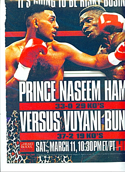 Prince Naseem Hamed vs. Vuyan Bunguy fight ad (Image1)