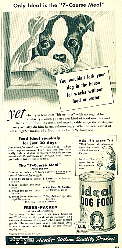 1948 Ideal Dog food ad  BABY BOXER (Image1)