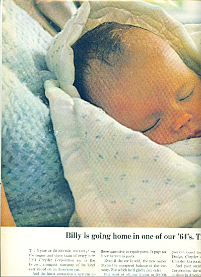 1954 Chrysler Corp AD BABY BILL NEWBORN (Image1)