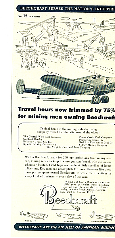 1951 Beechcraft Airplane AD 3 Models (Image1)