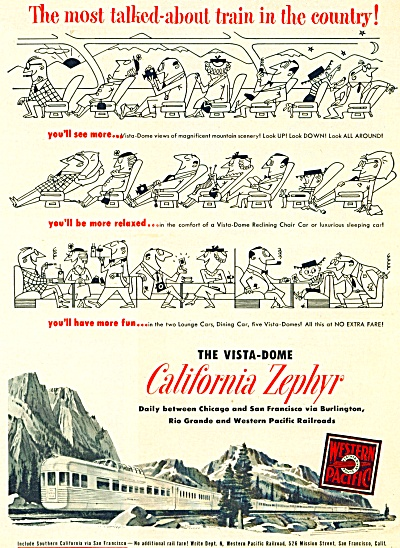 1951 California Zephyr train ad (Image1)