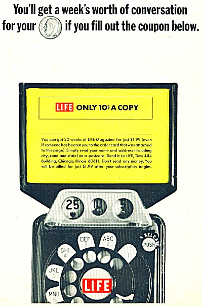 1951 Life Magazine AD COIN OP TELEPHONE (Image1)