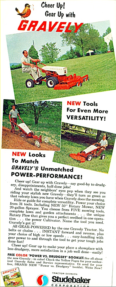 1963 STUDEBAKER GRAVELY Tractor AD (Image1)