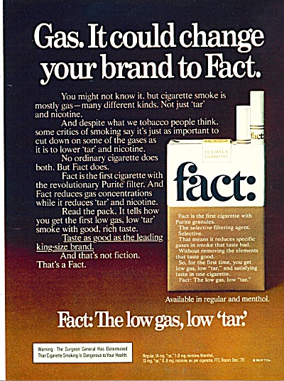 Fact Cigarettes Ad - May 3, 1977