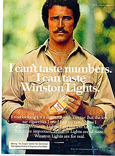 1977 Winston Cigarettes AD MAN Smoker (Image1)