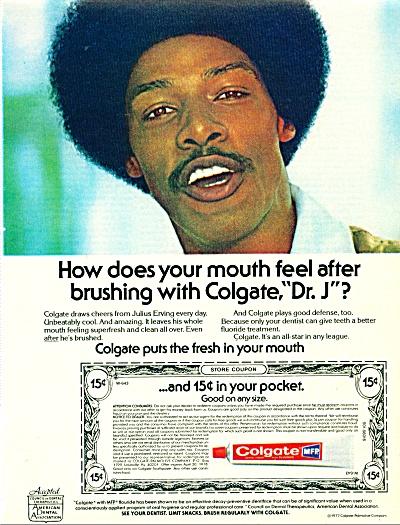 1977 Colgate DR. J. JULIUS ERVING Toothpaste (Image1)