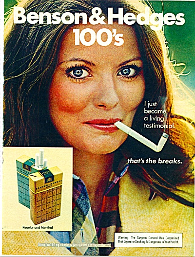 1977 Benson & Hedges Cigarettes Ad
