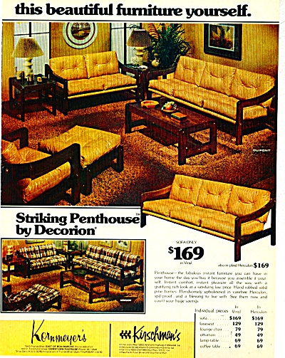 1977 KORNMEYER'S KIRSCHMAN Furniture AD 2pg (Image1)